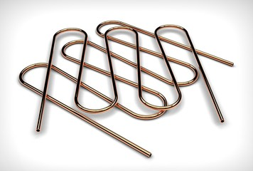 3d illustration of coiled pipes