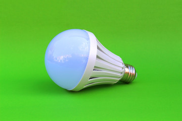 lamp on isolated green