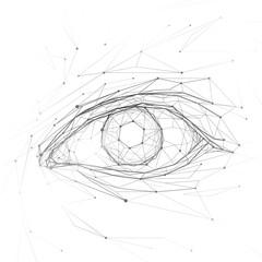 Eye isolated on background