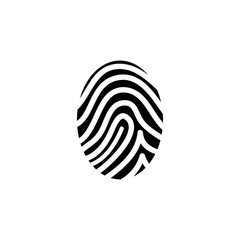 Fingerprint simple vector icon