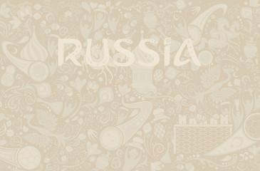 Russian ecru background, vector illustration