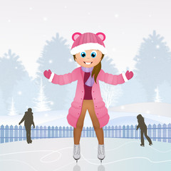 girl skating on ice
