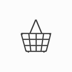 Shopping Cart Sign. Gray icon, isolated on white background. Allowing signal. Symbol of buy, retail, sale, store and business. Flat design element. Stock Vector illustration.