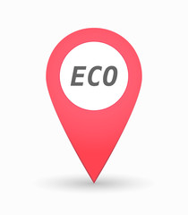 Isolated map mark with    the text ECO