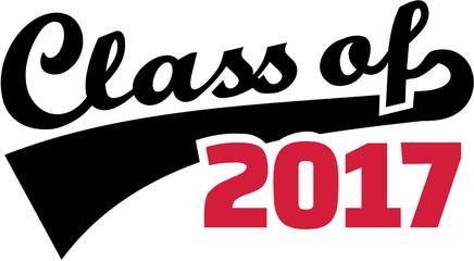 Class of 2017. Retro font. Fototapete