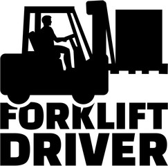 Wall Mural - Forklift driver