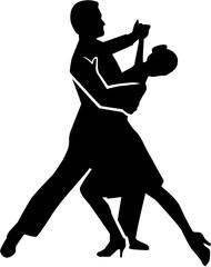 Foxtrot dancing couple