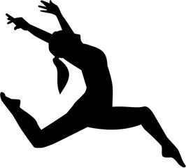 Jazz dancer woman
