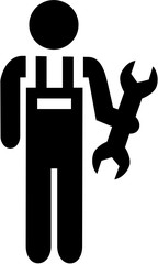 Mechanic pictogram with wrench