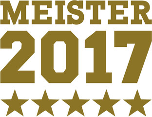 Master 2017 with five golden stars german