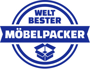 Fototapete - World's best mover german button