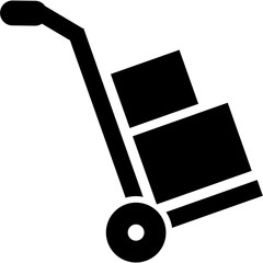 Fototapete - Hand truck icon - sack barrow