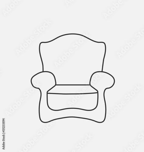 u0026quot schematically chair  modern flat style vector