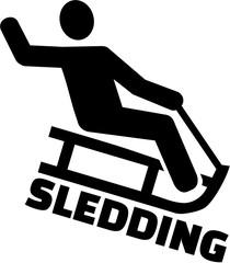 Sledding pictogram