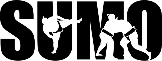 Sumo word with cutouts