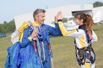 happiness after skydiving