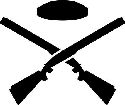 Crossed trap shooting gun