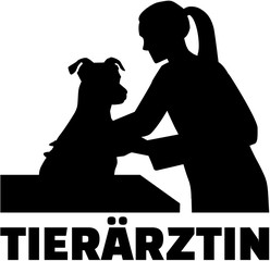 Veterinarian - female doctor with german job title