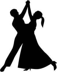 Waltz couple dancing