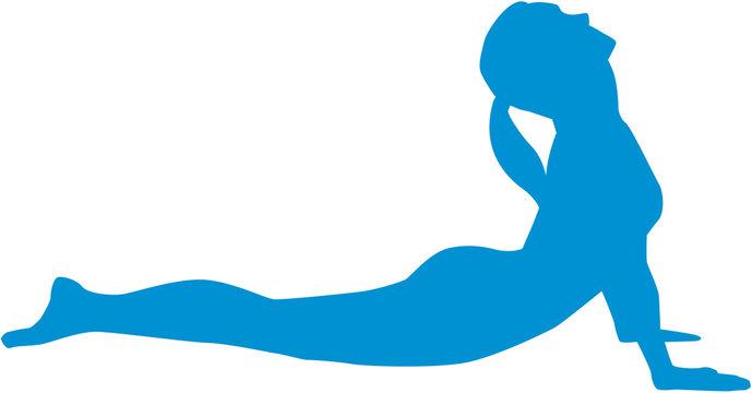Yoga sun salutation - Position bhujangasana