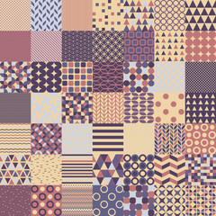 Fifty Simple Shapes Seamless Patterns