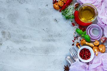 Vegetables cooking ingredients