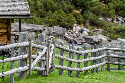 Zaun Aus Holz Im Gebirge Stock Photo And Royalty Free Images On
