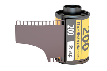 35 mm camera film, 3D rendering