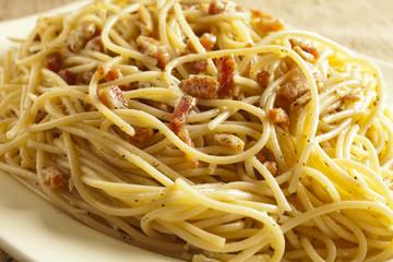 Spaghetti alla Carbonara, a classic Italian pasta dish