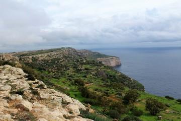 Dingli Cliffs of Malta Landscape Countryside by the Sea