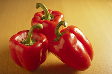 whole red bell peppers