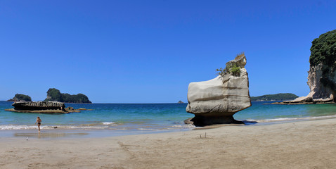cathedral cove beach panorama