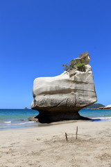 Sphinx Rock on cathedral cove beach