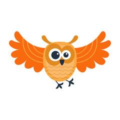 Cartoon owl vector isolated