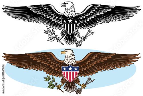 American Bald Eagle Patriotic Symbol Stock Image And Royalty Free
