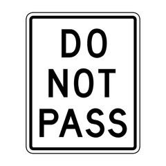 Vector Do Not Pass Sign