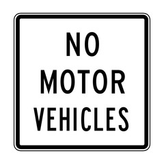 Vector No Motor Vehicles Icon.