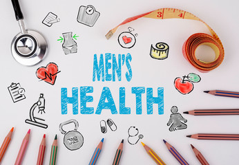 Men's Health concept. Healty lifestyle background.