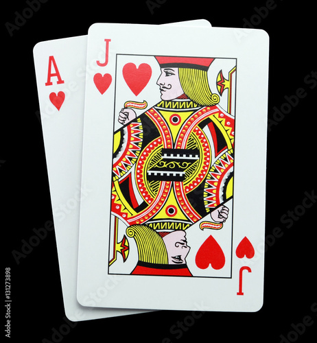 """card Game Blackjack Hearts"" Stock Photo And Royalty-free"