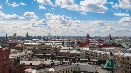 Moscow. Top view on roofs
