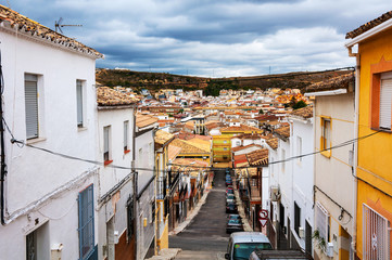 Andalusia, Spain. Streets of small town Alcala la Real