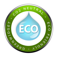 ECO Siegel - CO2 Neutral - Greenwidget Zeichen