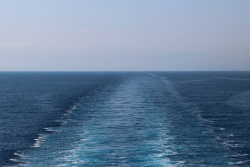 Trace of cruise ship