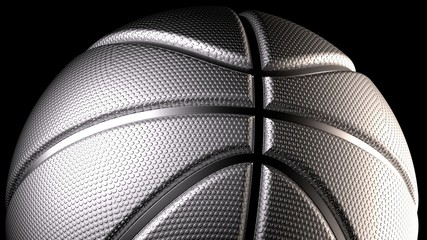 Basketball. 3D illustration. 3D CG. High resolution.