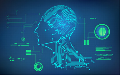 Buleprint of ai invention electronic robot brain diagram cyborg category ccuart Gallery