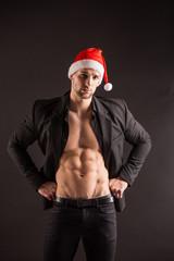 Handsome sexy santa claus