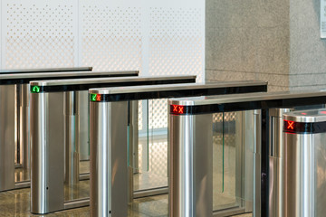 automatic access control security gate in station entrance syste