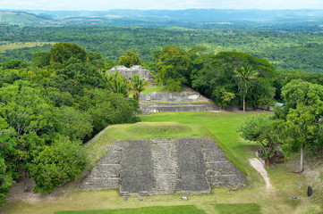 Xunantunich -  Ancient Maya archaeological site in western Belize with pyramid El Castillo