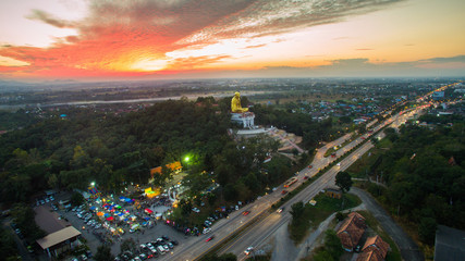 Lamphun,Thailand, 20 December 2016 : Evening super highway of La