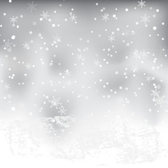 Abstract backgrounds. Snow on Christmas. vector illustration wallpaper.